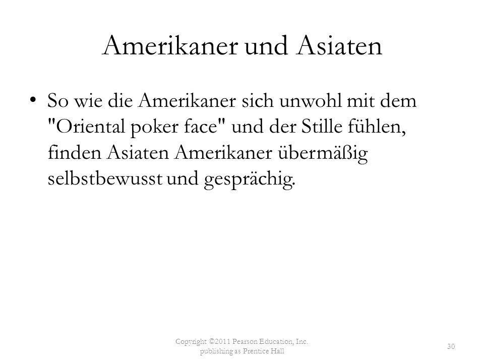 Amerikaner und Asiaten