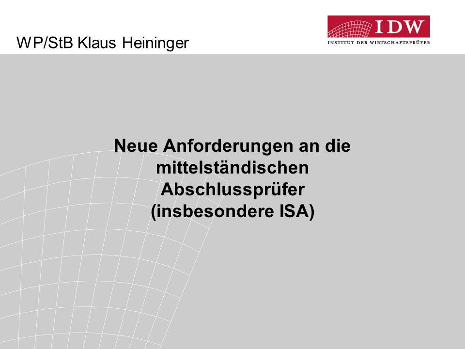 WP/StB Klaus Heininger