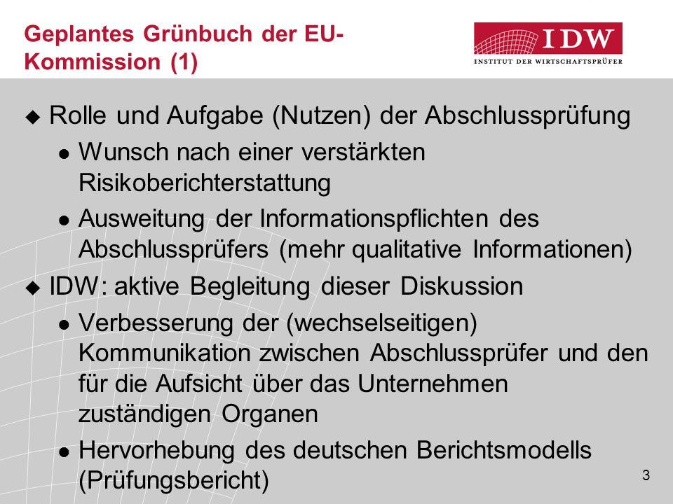 Geplantes Grünbuch der EU-Kommission (1)