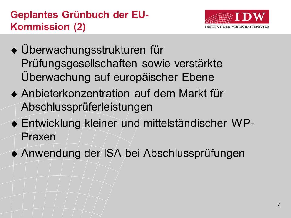 Geplantes Grünbuch der EU-Kommission (2)