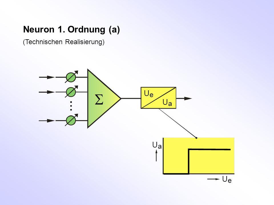 Neuron 1. Ordnung (a) (Technischen Realisierung) S Ue Ua Ua Ue