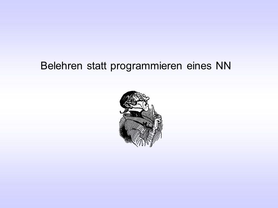 Belehren statt programmieren eines NN