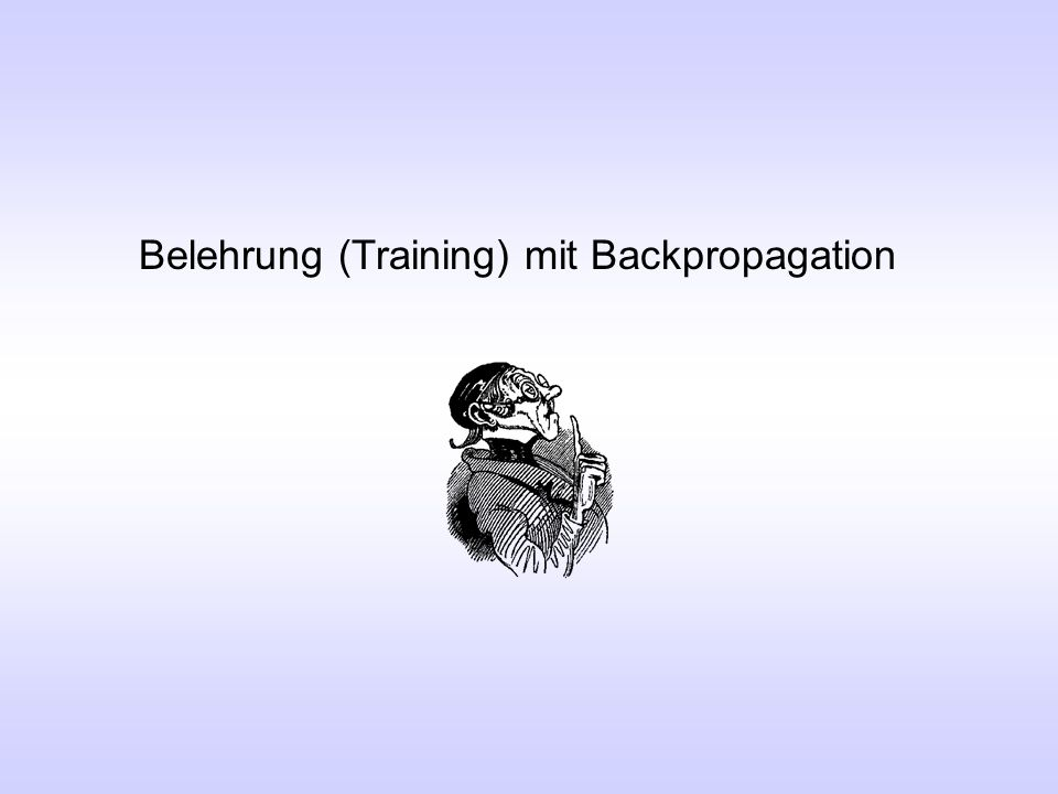 Belehrung (Training) mit Backpropagation