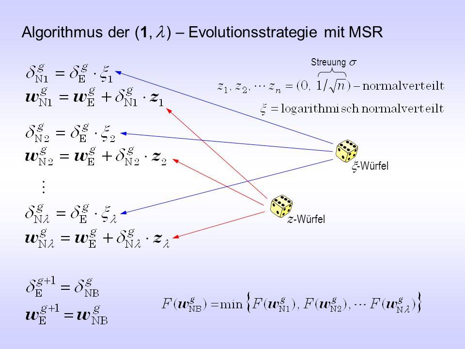 Algorithmus der (1, l ) – Evolutionsstrategie mit MSR