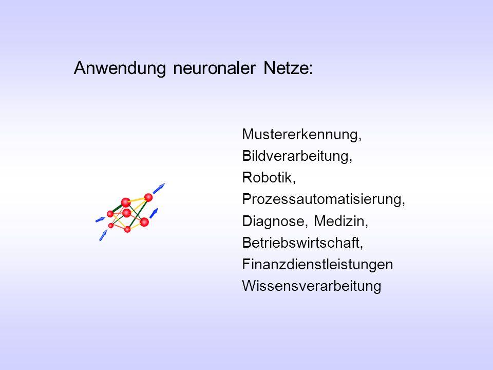 Anwendung neuronaler Netze:
