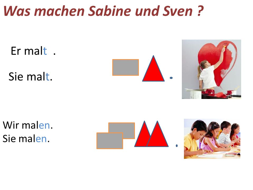 Was machen Sabine und Sven