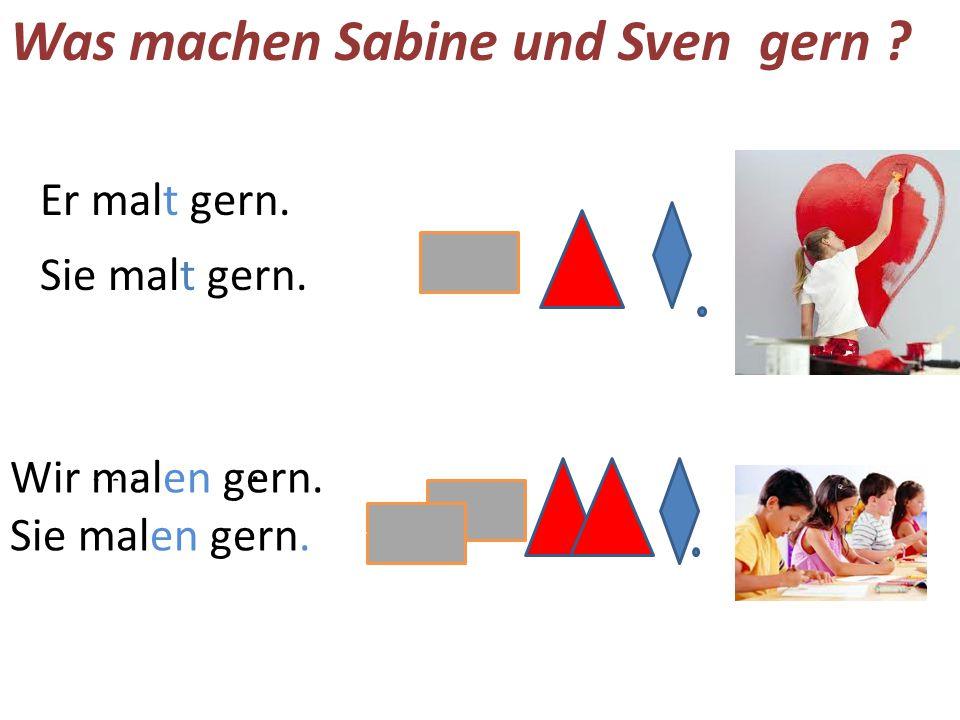 Was machen Sabine und Sven gern