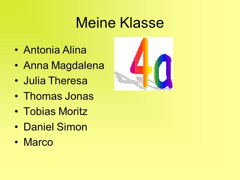 Meine Klasse Antonia Alina Anna Magdalena Julia Theresa Thomas Jonas