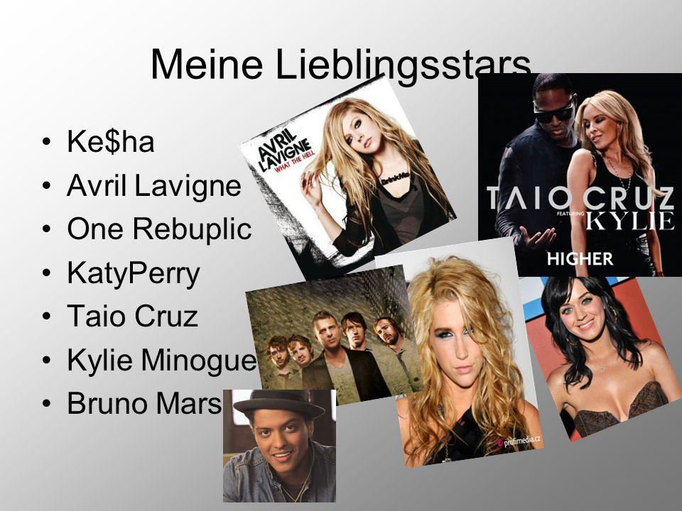Meine Lieblingsstars Ke$ha Avril Lavigne One Rebuplic KatyPerry