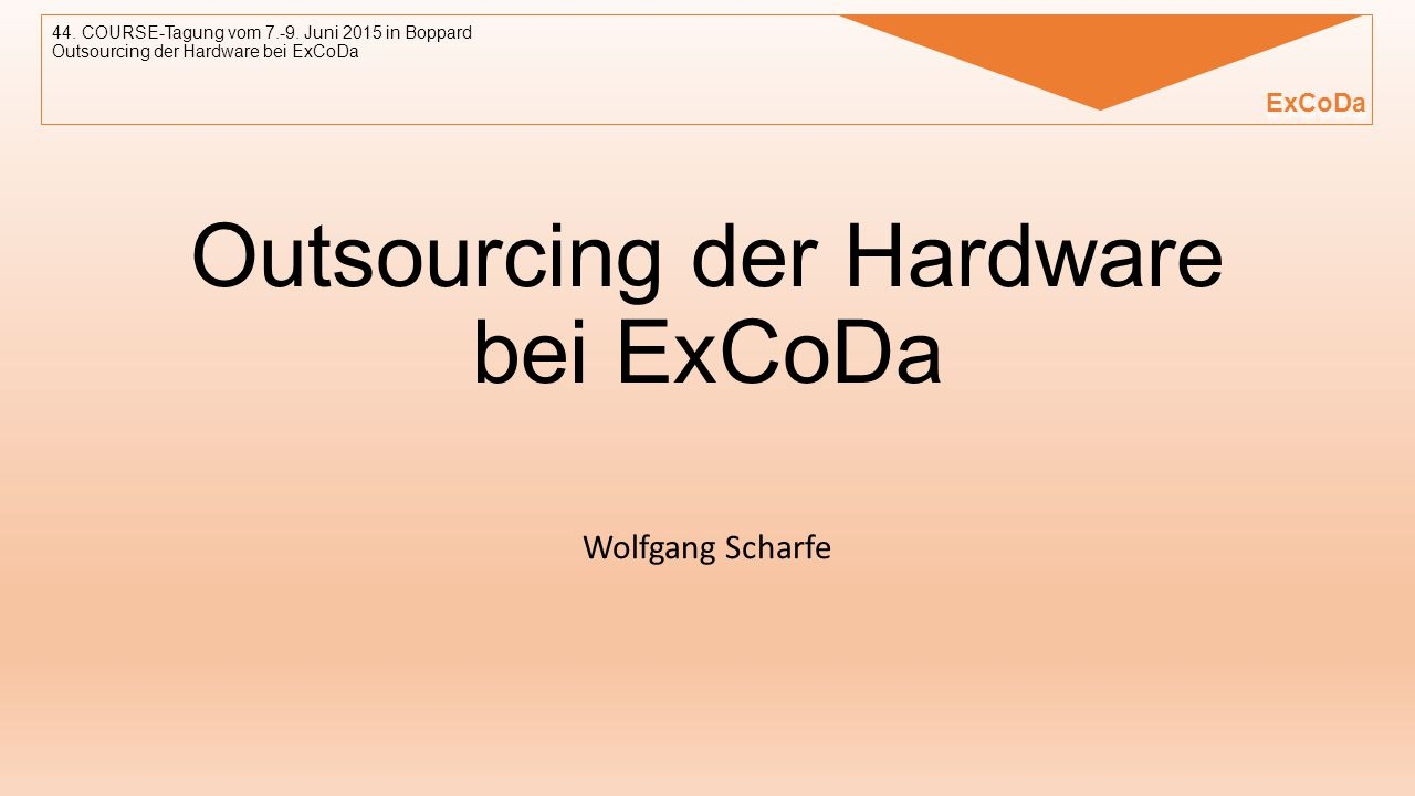 Outsourcing der Hardware bei ExCoDa