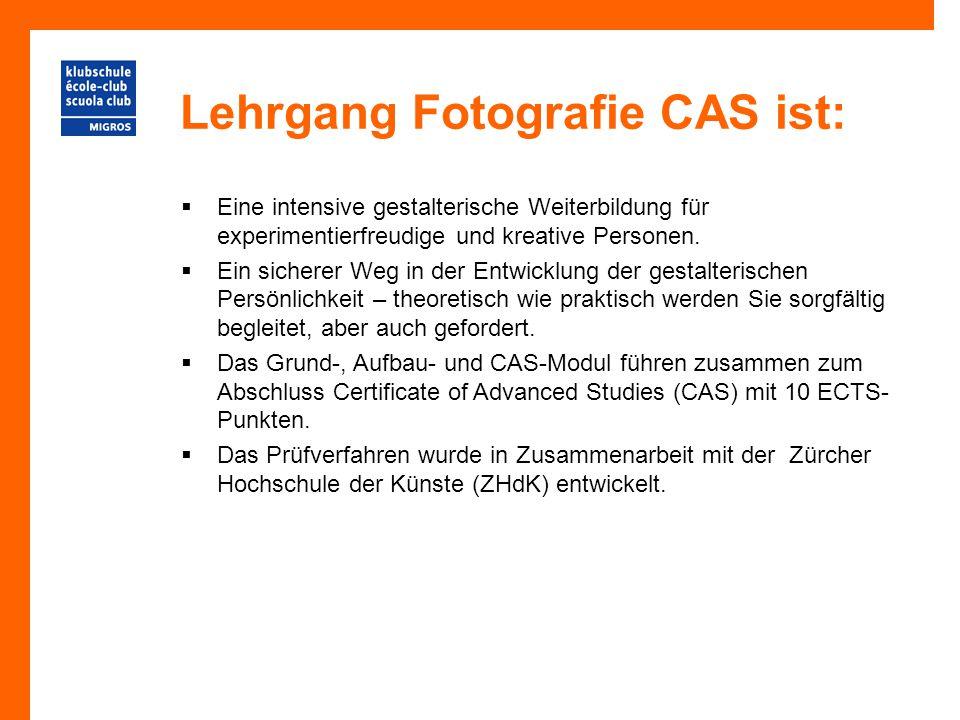 Lehrgang Fotografie CAS ist: