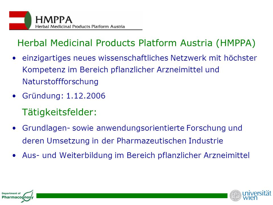 Herbal Medicinal Products Platform Austria (HMPPA)