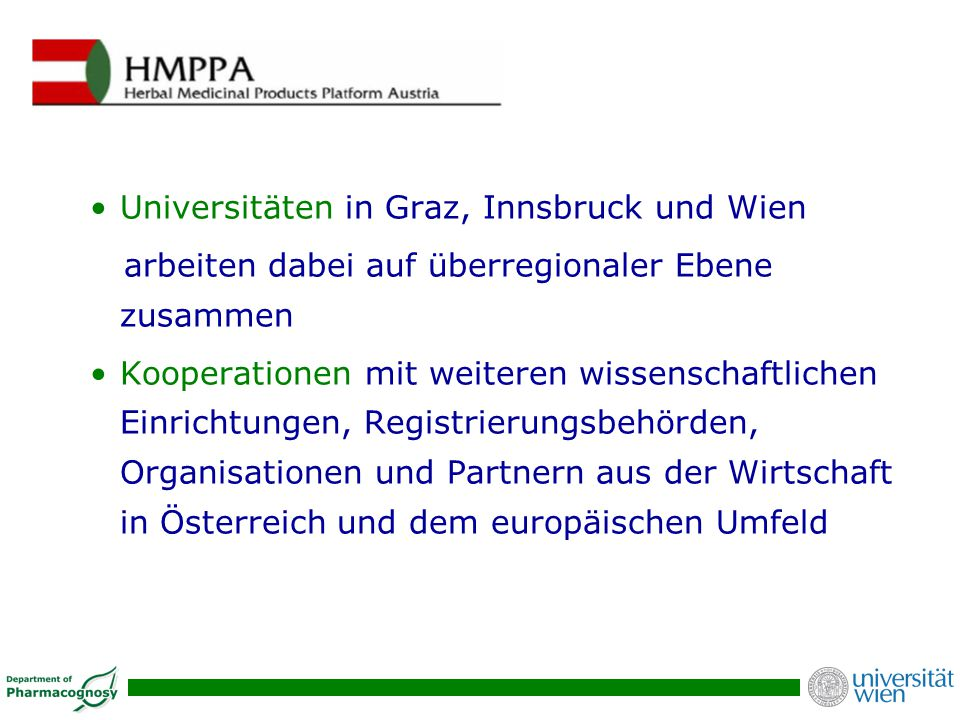 Universitäten in Graz, Innsbruck und Wien