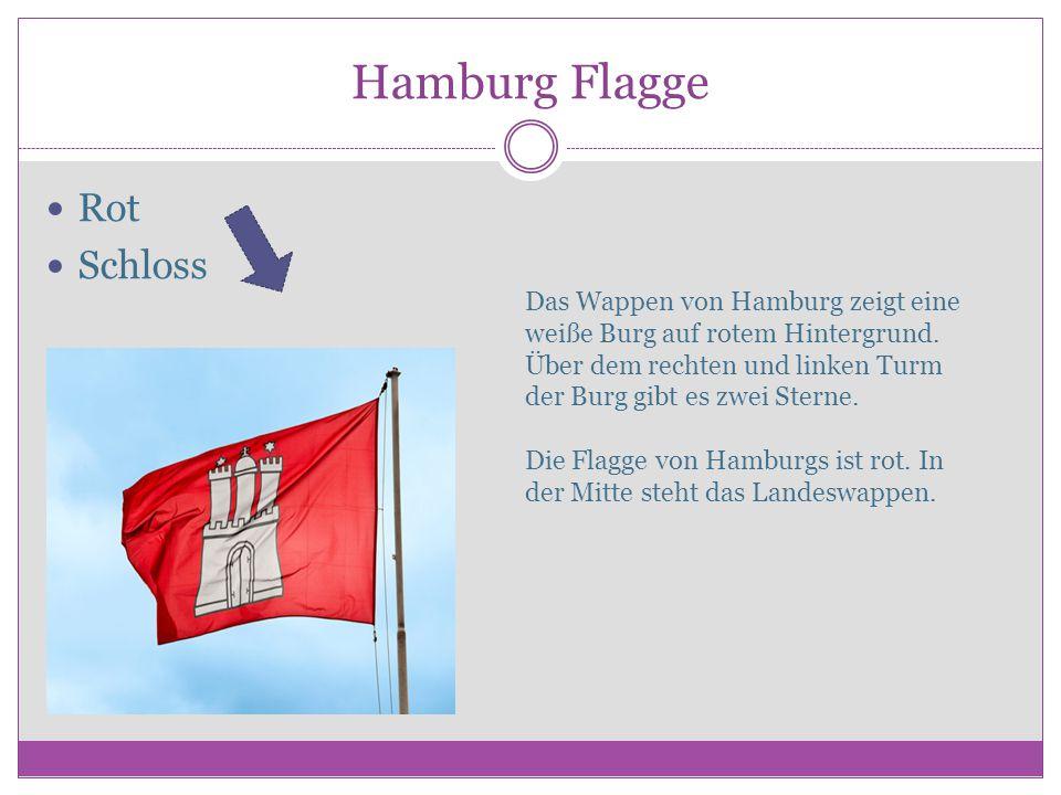 Hamburg Flagge Rot Schloss