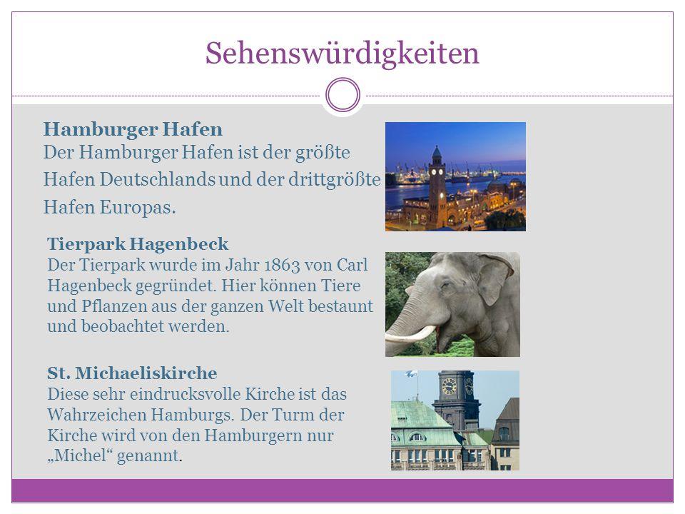 Sehenswürdigkeiten Hamburger Hafen Der Hamburger Hafen ist der größte Hafen Deutschlands und der drittgrößte Hafen Europas.