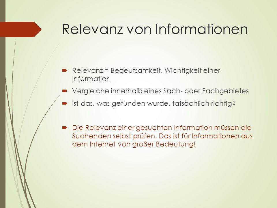 Relevanz von Informationen
