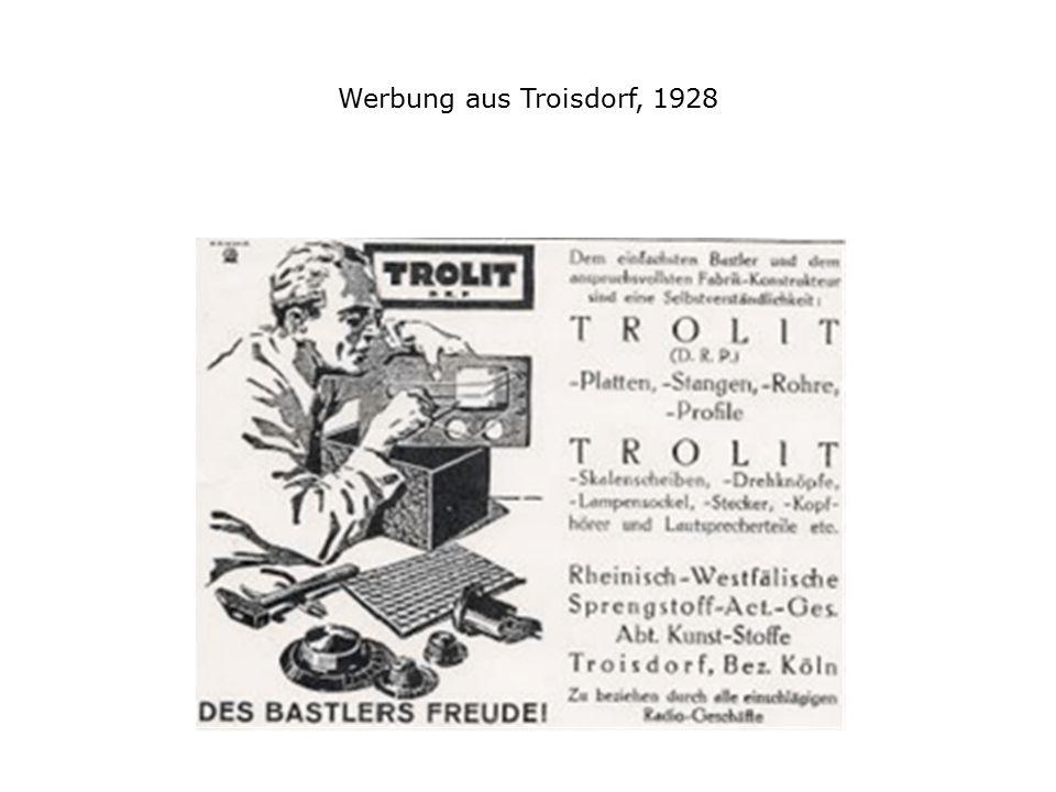 Werbung aus Troisdorf, 1928