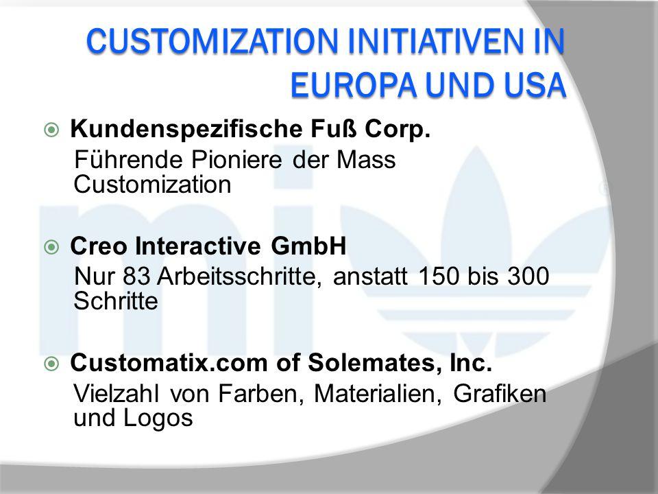 Customization InitiativeN in Europa und USA