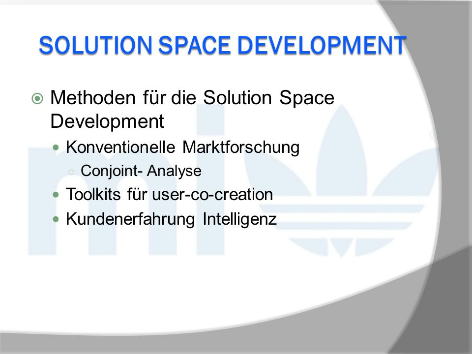 Solution Space Development