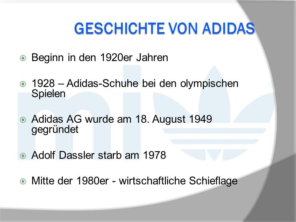 Geschichte von Adidas Beginn in den 1920er Jahren