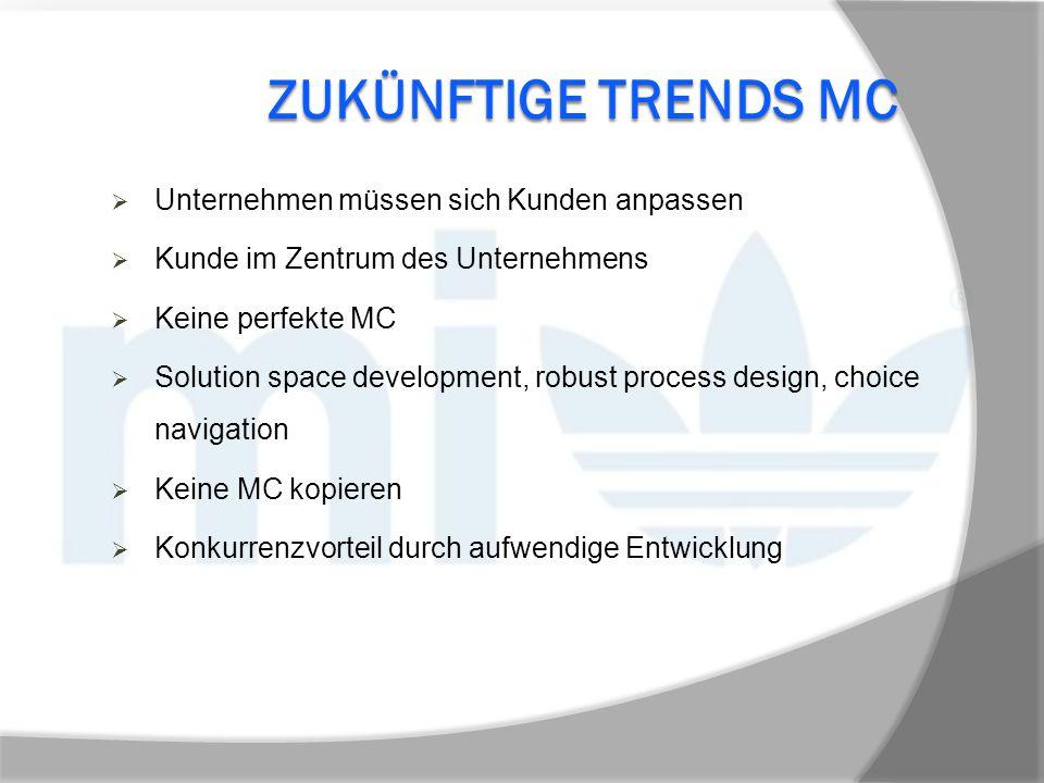 Zukünftige Trends MC Unternehmen müssen sich Kunden anpassen