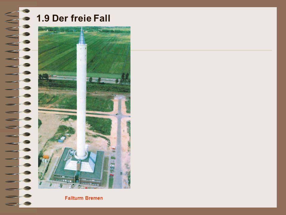 1.9 Der freie Fall Fallturm Bremen