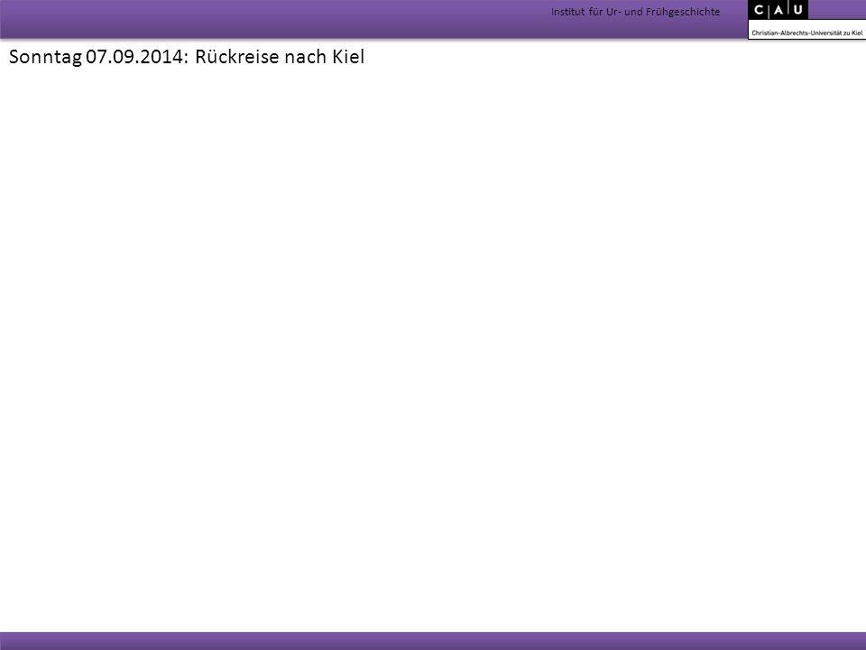Sonntag 07.09.2014: Rückreise nach Kiel
