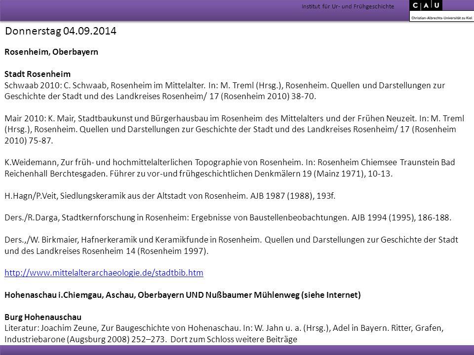 Donnerstag 04.09.2014 Rosenheim, Oberbayern Stadt Rosenheim
