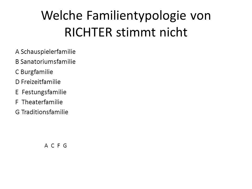Welche Familientypologie von RICHTER stimmt nicht