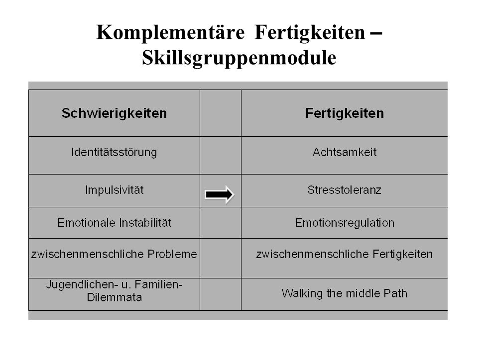 Komplementäre Fertigkeiten – Skillsgruppenmodule