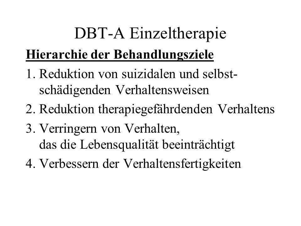DBT-A Einzeltherapie Hierarchie der Behandlungsziele