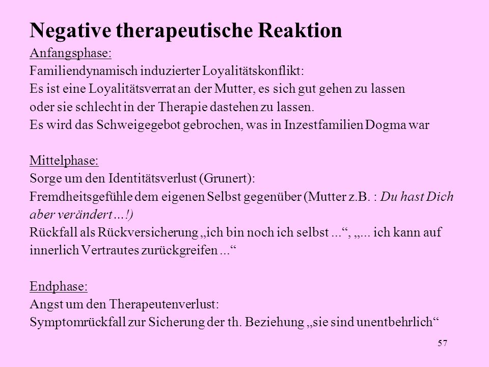Negative therapeutische Reaktion