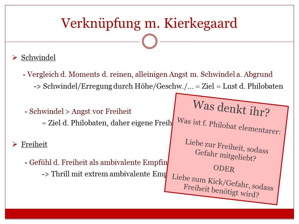 Verknüpfung m. Kierkegaard