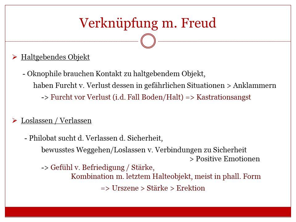 Verknüpfung m. Freud Haltgebendes Objekt