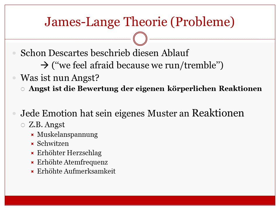 James-Lange Theorie (Probleme)
