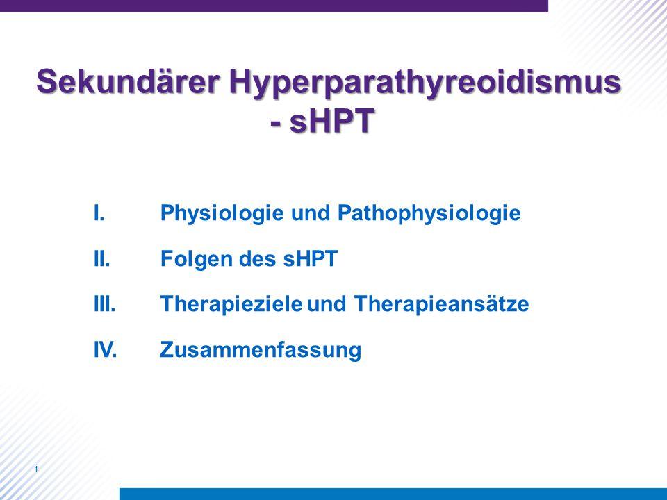 Sekundärer Hyperparathyreoidismus - sHPT