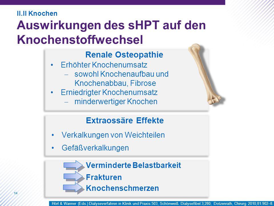 Renale Osteopathie Extraossäre Effekte Erhöhter Knochenumsatz