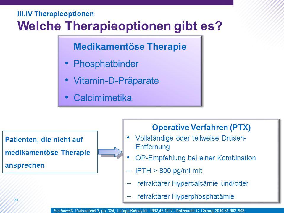 Operative Verfahren (PTX)