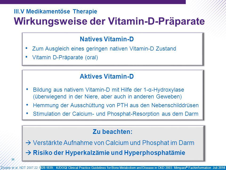 Wirkungsweise der Vitamin-D-Präparate
