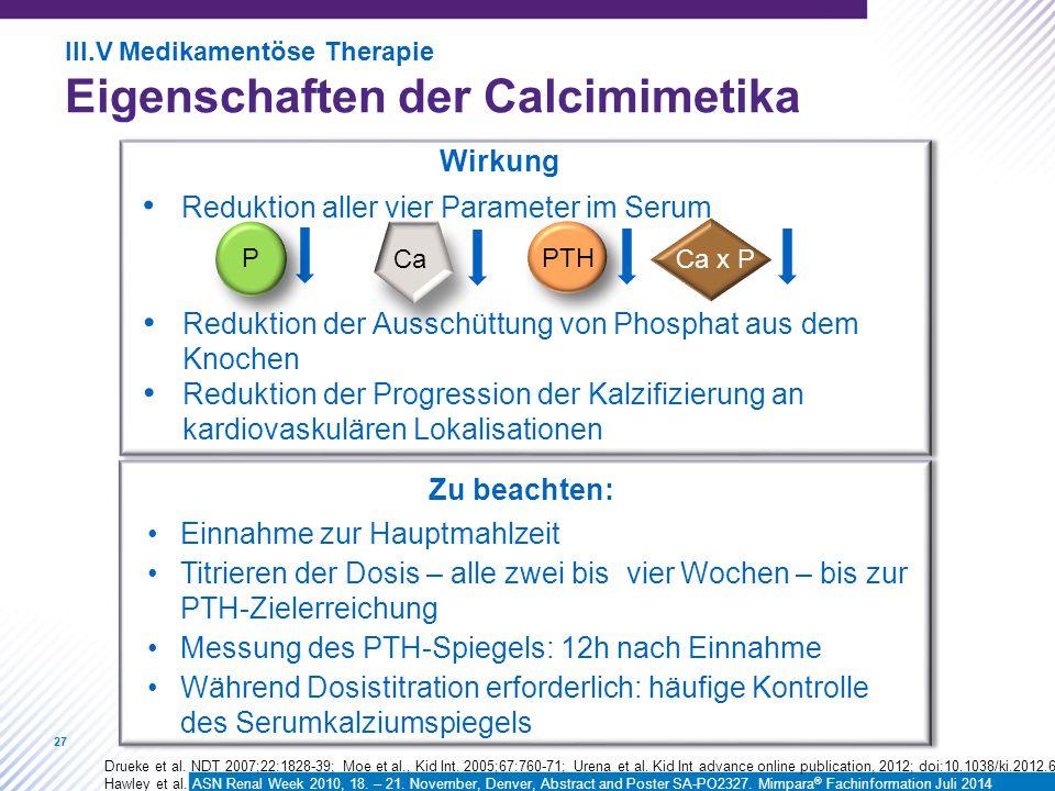 Eigenschaften der Calcimimetika