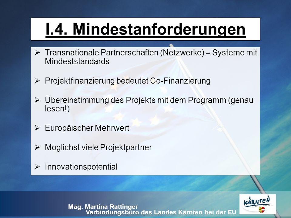 I.4. Mindestanforderungen