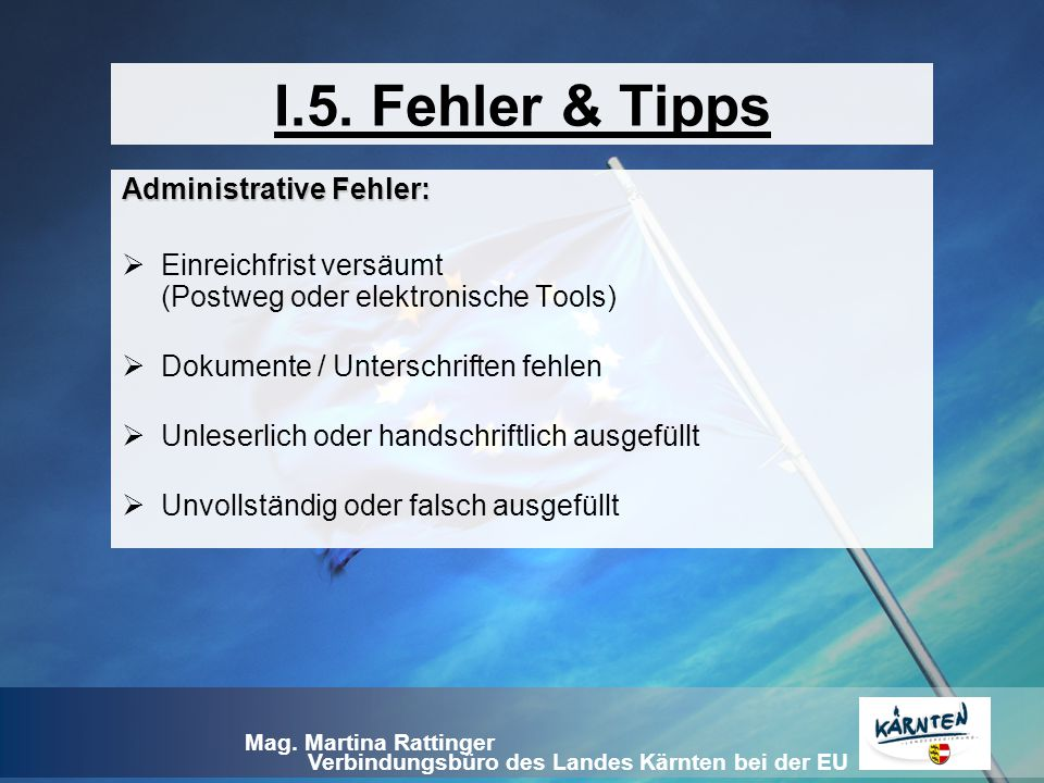Administrative Fehler: