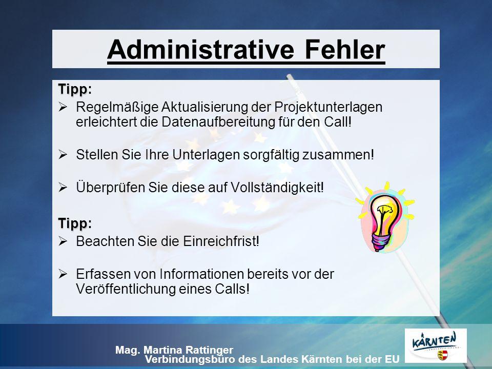 Administrative Fehler