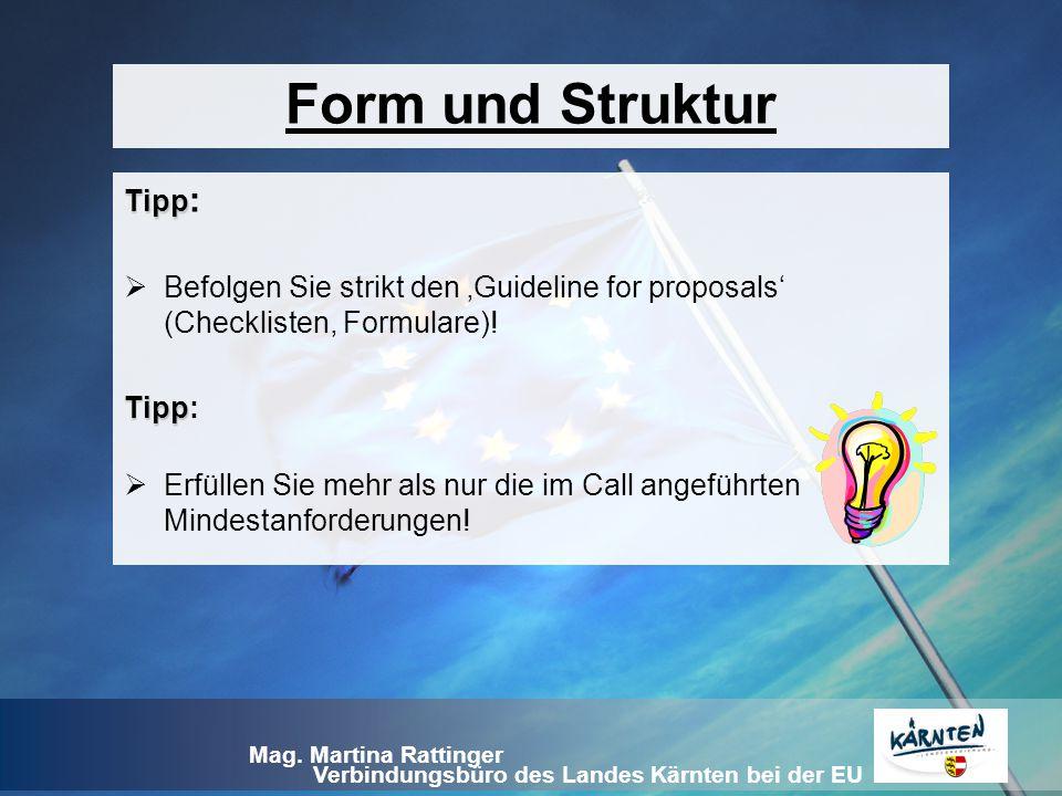 Form und Struktur Tipp: