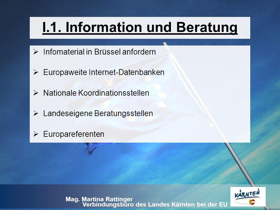 I.1. Information und Beratung