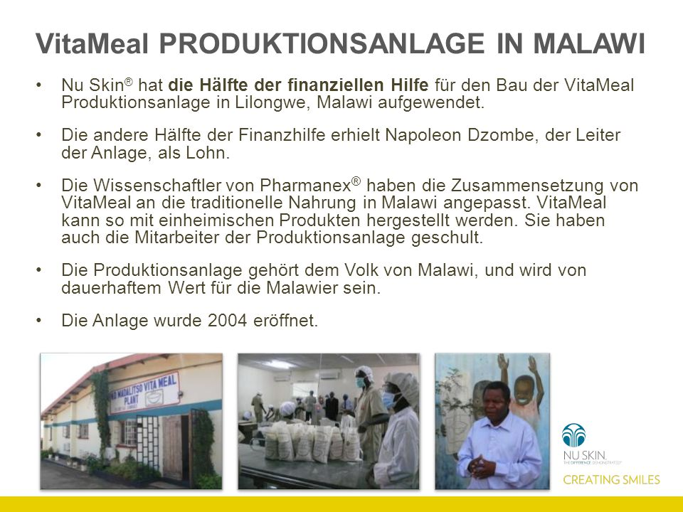 VitaMeal Produktionsanlage in Malawi