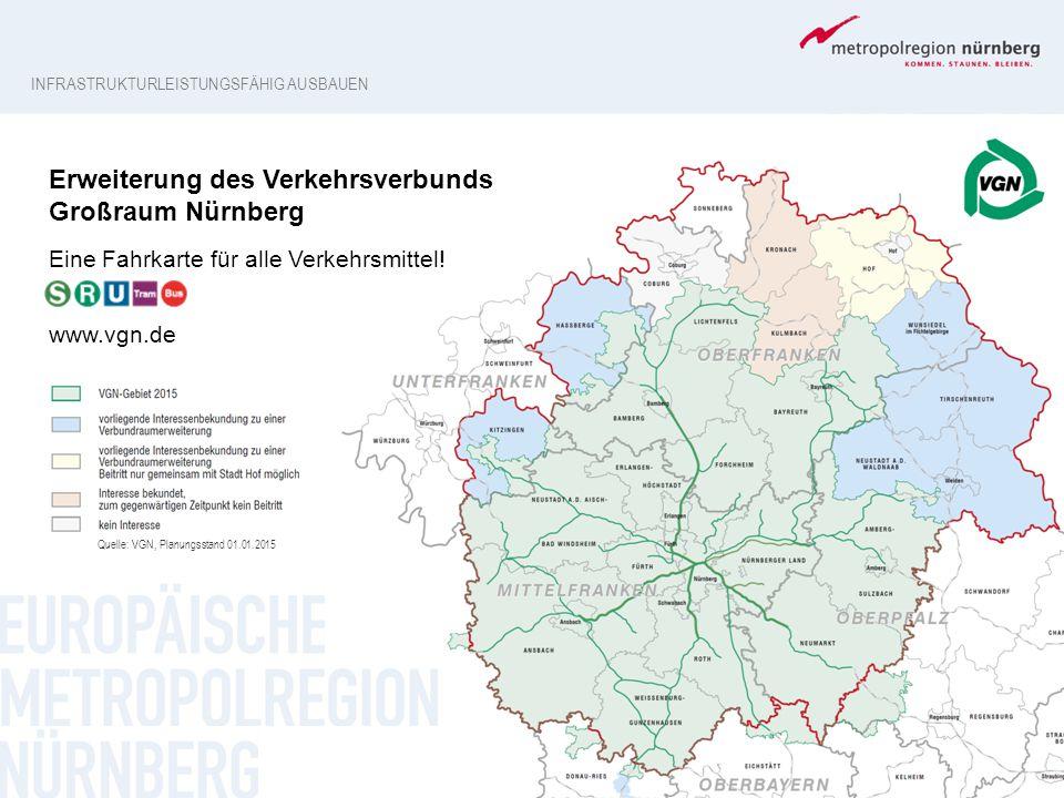 Erweiterung des Verkehrsverbunds Großraum Nürnberg