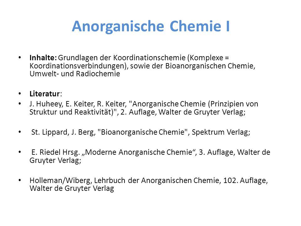 Anorganische Chemie I