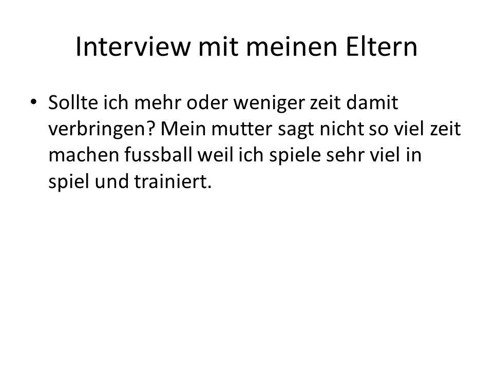 Interview mit meinen Eltern