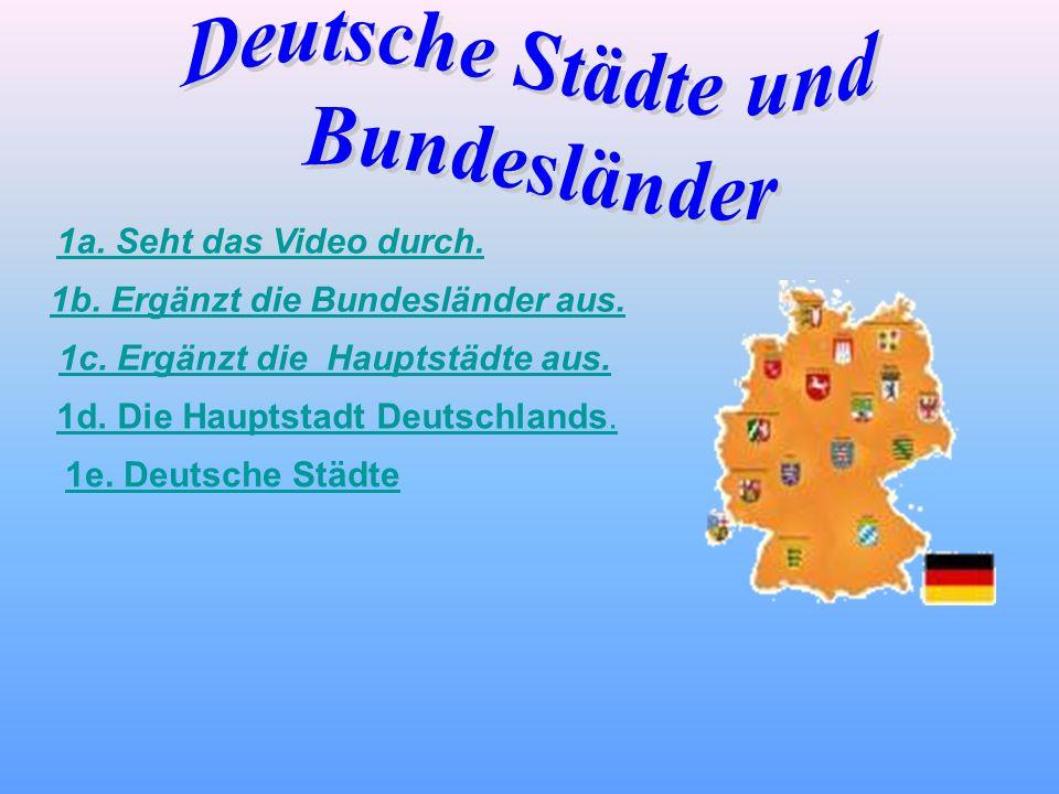 Deutsche Städte und Bundesländer